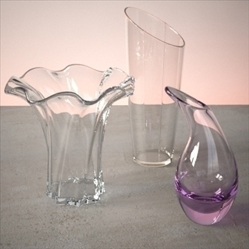 vase set 3 3d model 3ds max dwg fbx lwo ma mb hrc xsi obj 102455