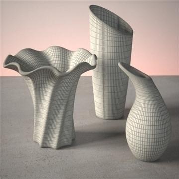 vase set 3 3d model 3ds max dwg fbx lwo ma mb hrc xsi obj 102456