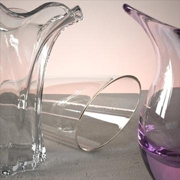 vase set 3 3d model 3ds max dwg fbx lwo ma mb hrc xsi obj 102461