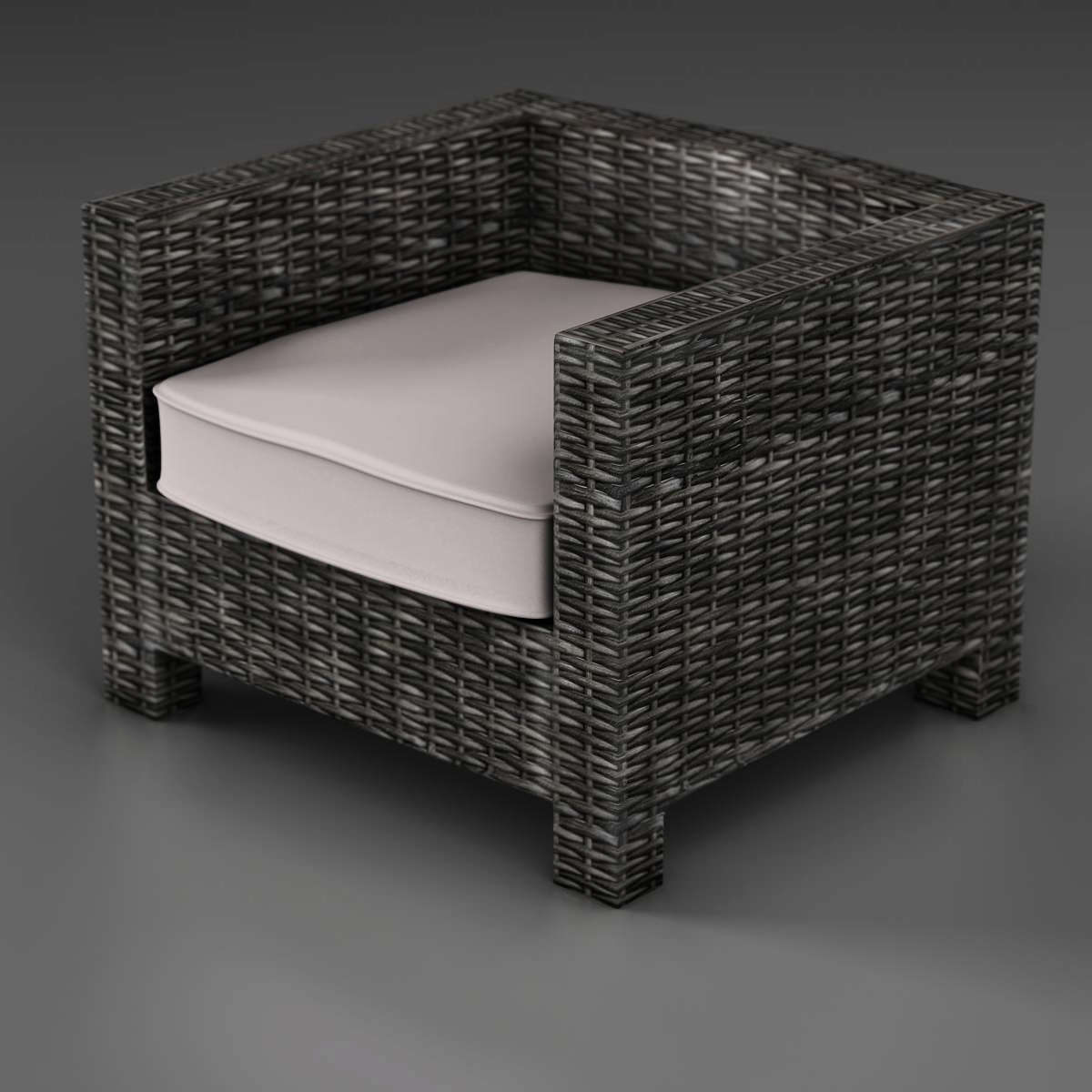 Wicker sofa 3d model 3ds max fbx c4d ma mb obj 162332