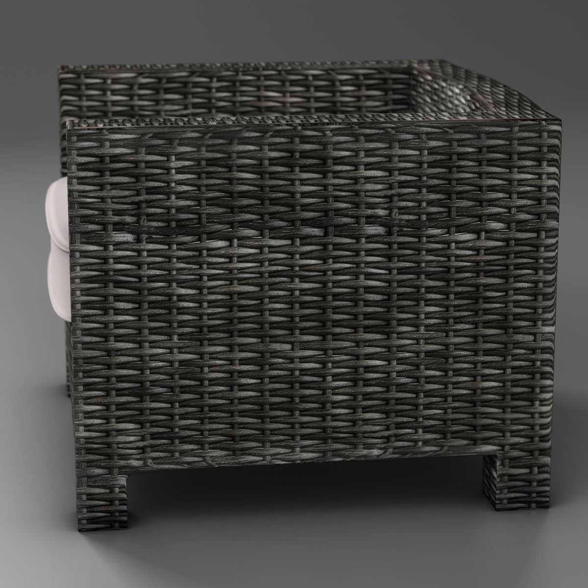wicker couch 3d model 3ds max fbx c4d ma mb obj 162335