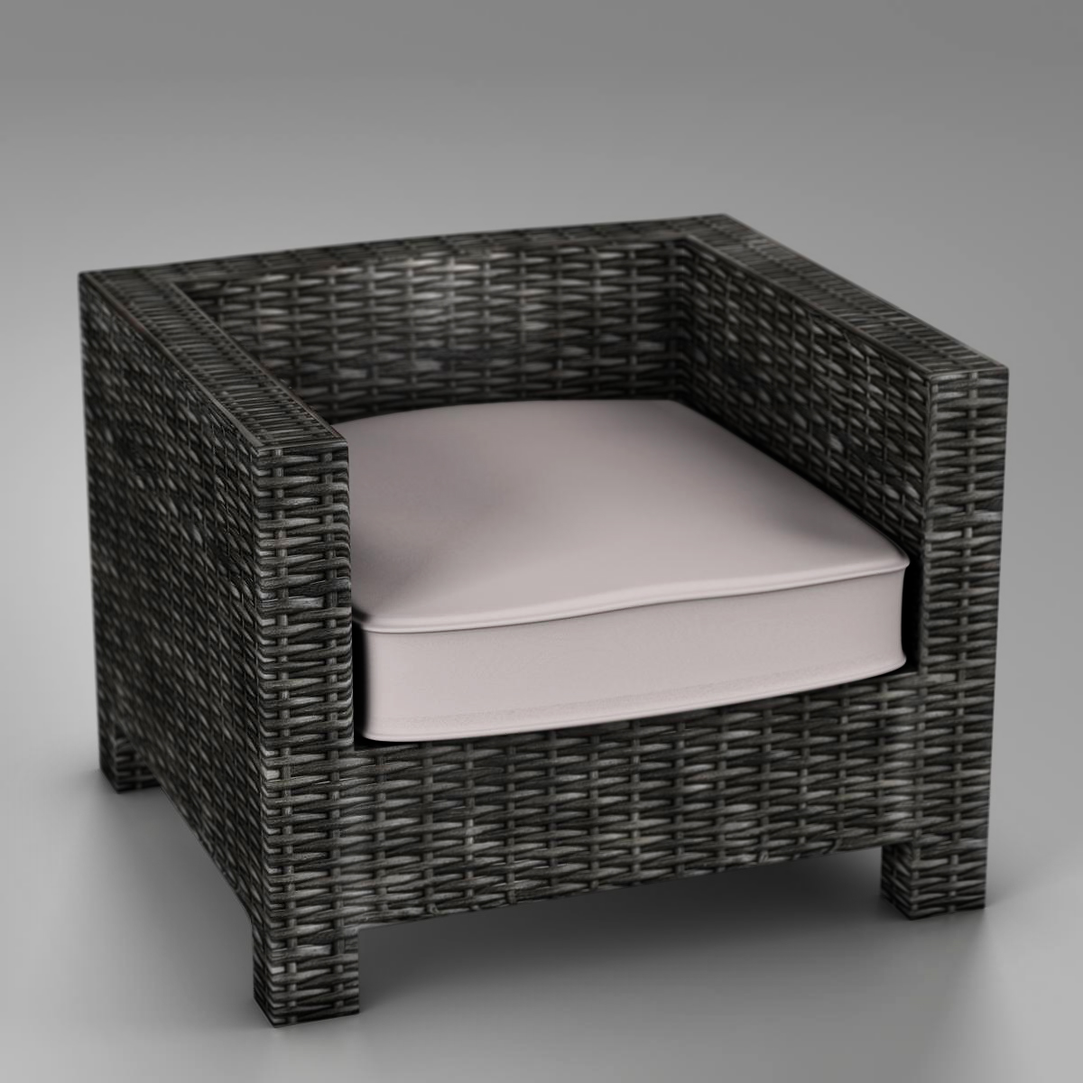 wicker couch 3d model 3ds max fbx c4d ma mb obj 162339