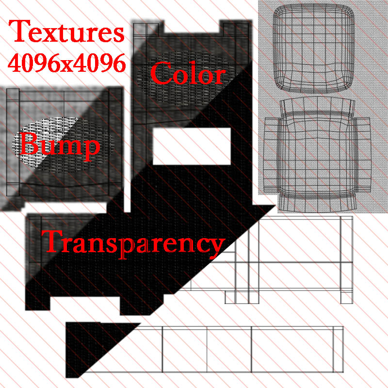зэгсэн сандал 3d загвар 3ds max fbx c4d mn obj 162346