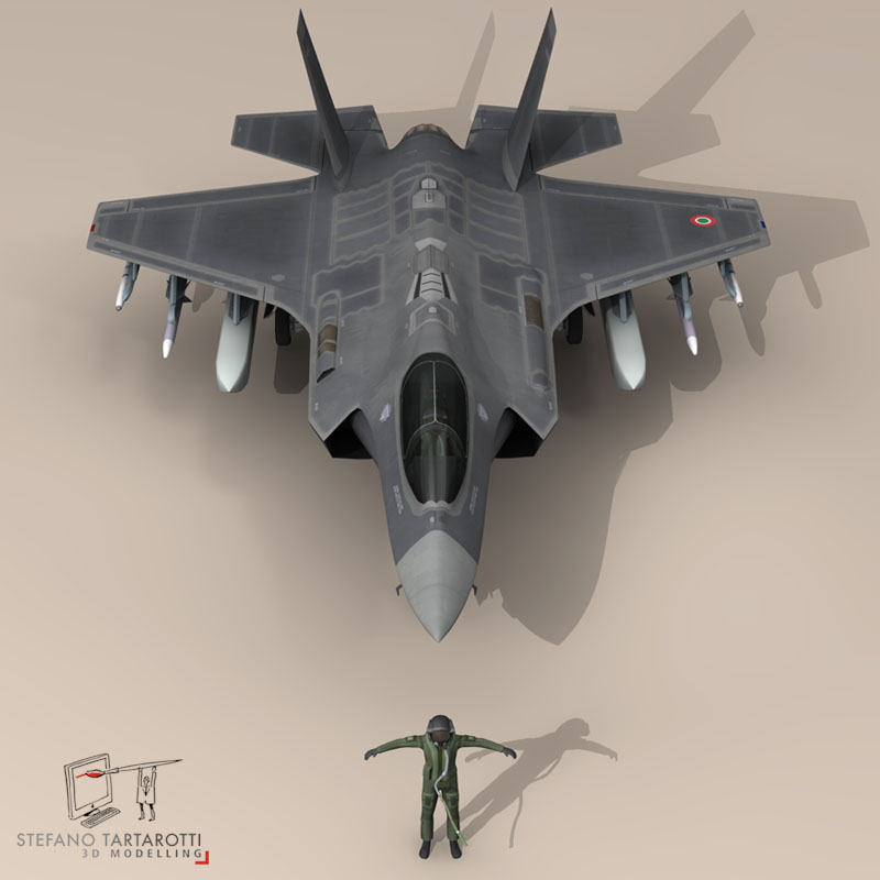 f 35 a italian air force 3d model 3ds dxf fbx c4d obj 147313