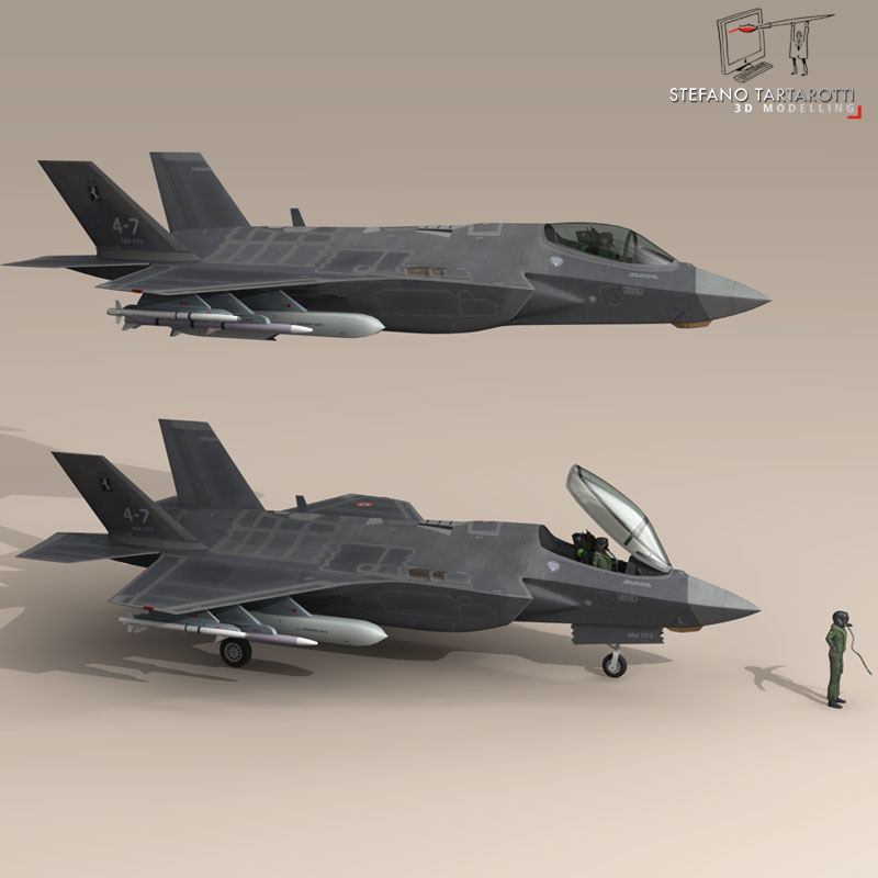 f 35 a italian air force 3d model 3ds dxf fbx c4d obj 147314