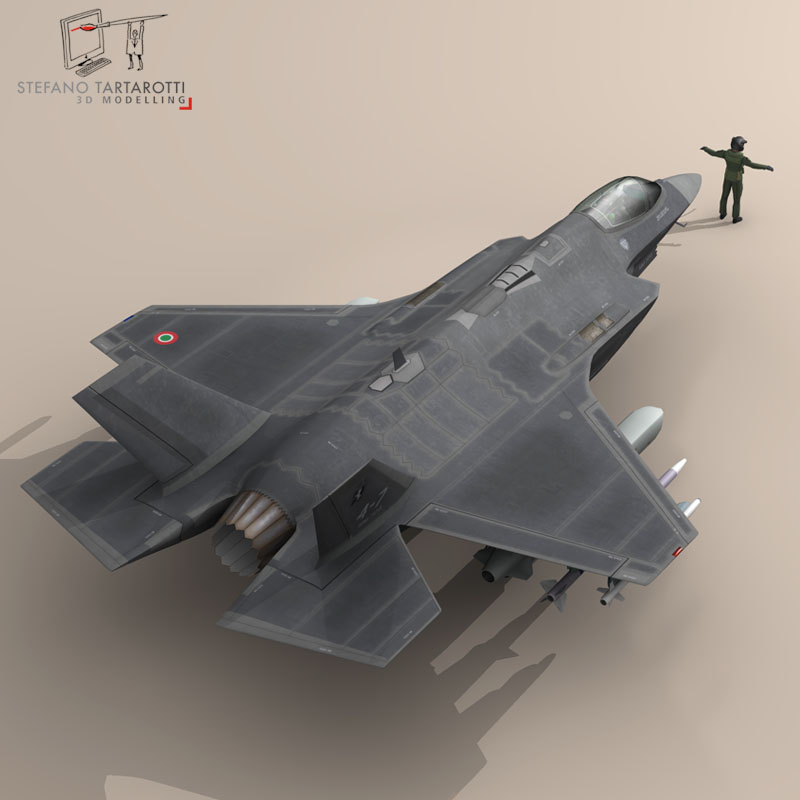 f 35 a italian air force 3d model 3ds dxf fbx c4d obj 147315