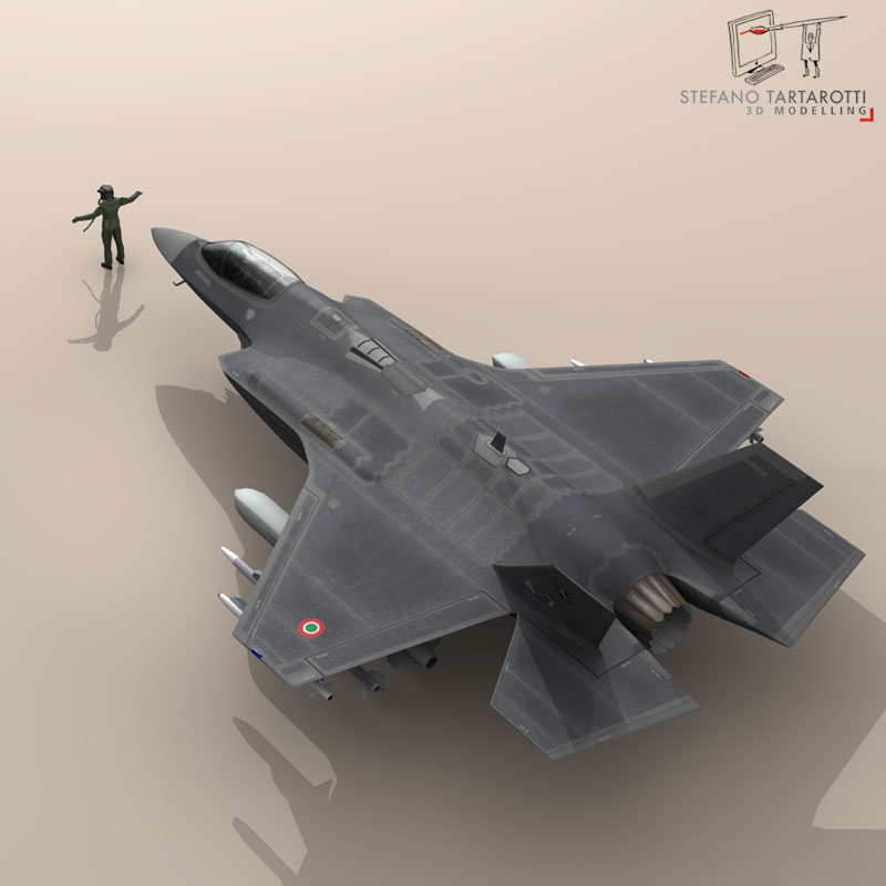 f 35 a italian air force 3d model 3ds dxf fbx c4d obj 147316