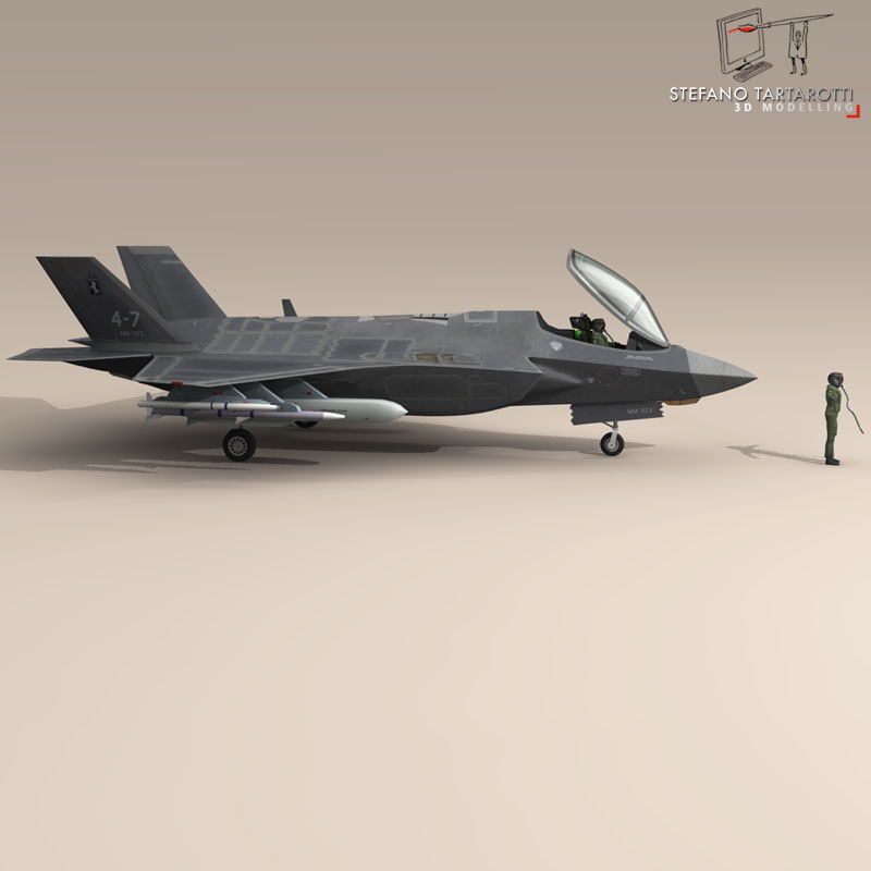 f 35 a italian air force 3d model 3ds dxf fbx c4d obj 147317