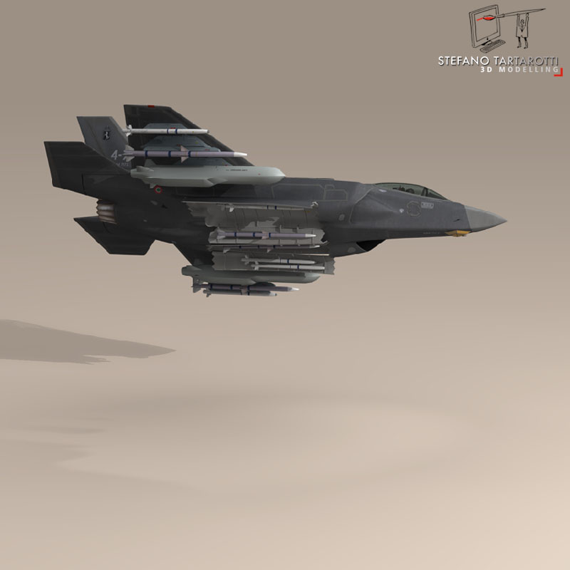 f 35 a italian air force 3d model 3ds dxf fbx c4d obj 147318