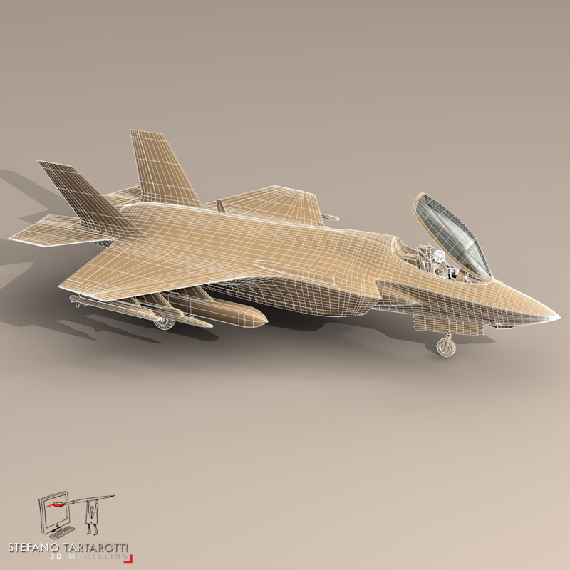 f 35 a italian air force 3d model 3ds dxf fbx c4d obj 147324