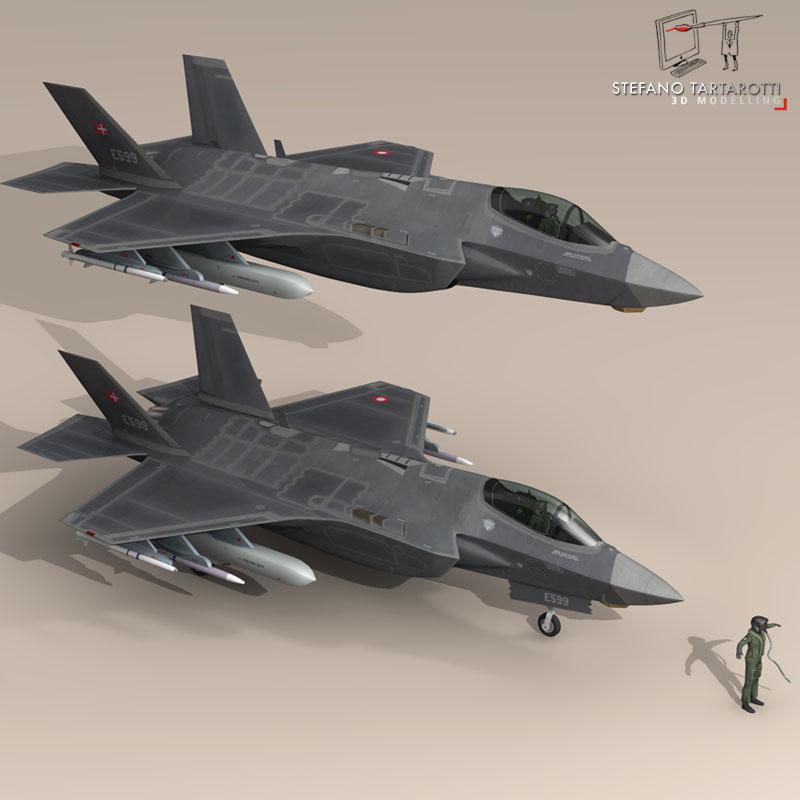 f 35 a royal danish air force 3d model 3ds dxf fbx c4d obj 147339
