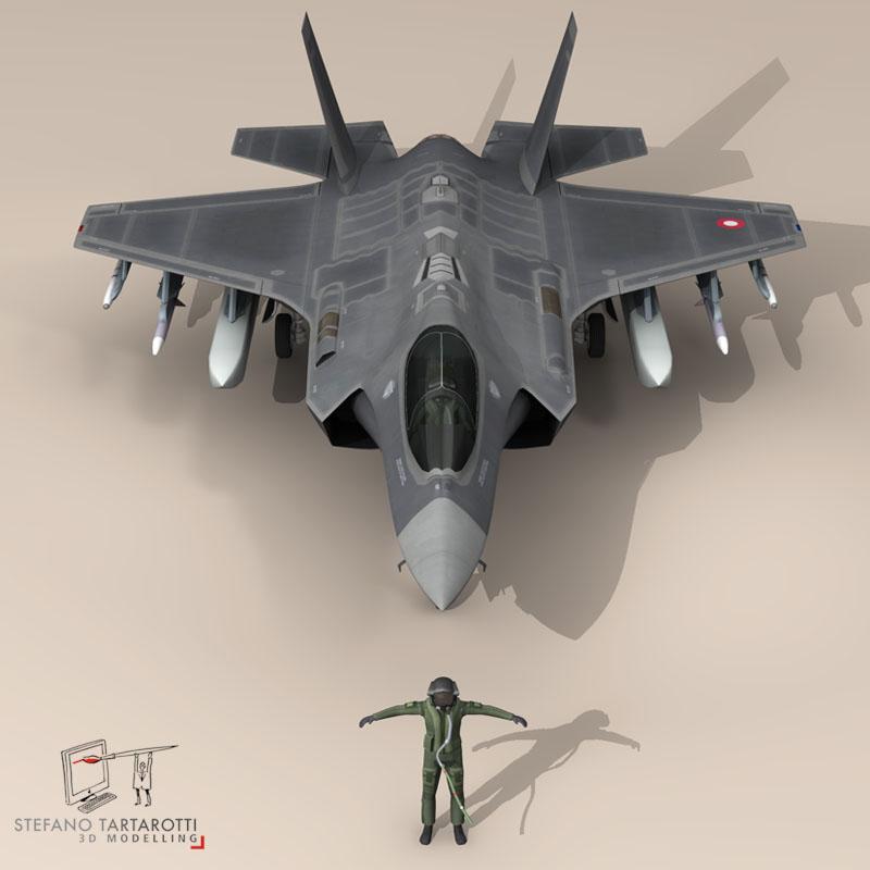 f 35 a royal danish air force 3d model 3ds dxf fbx c4d obj 147340