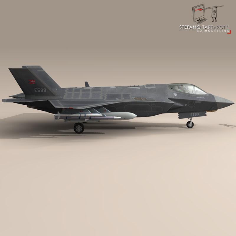 f 35 a royal danish air force 3d model 3ds dxf fbx c4d obj 147341