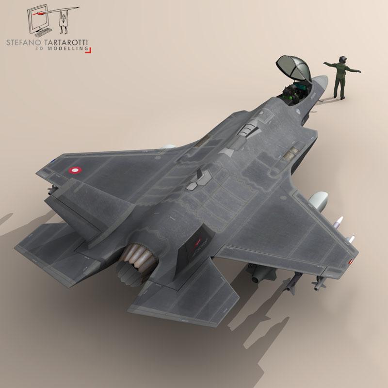 f 35 a royal danish air force 3d model 3ds dxf fbx c4d obj 147342