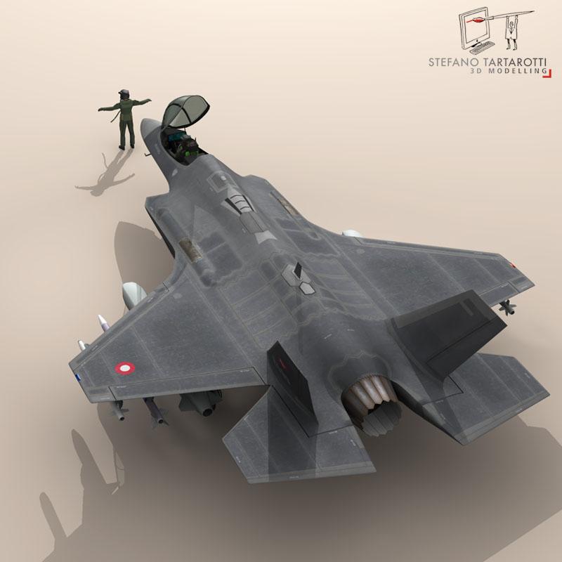 f 35 a royal danish air force 3d model 3ds dxf fbx c4d obj 147343