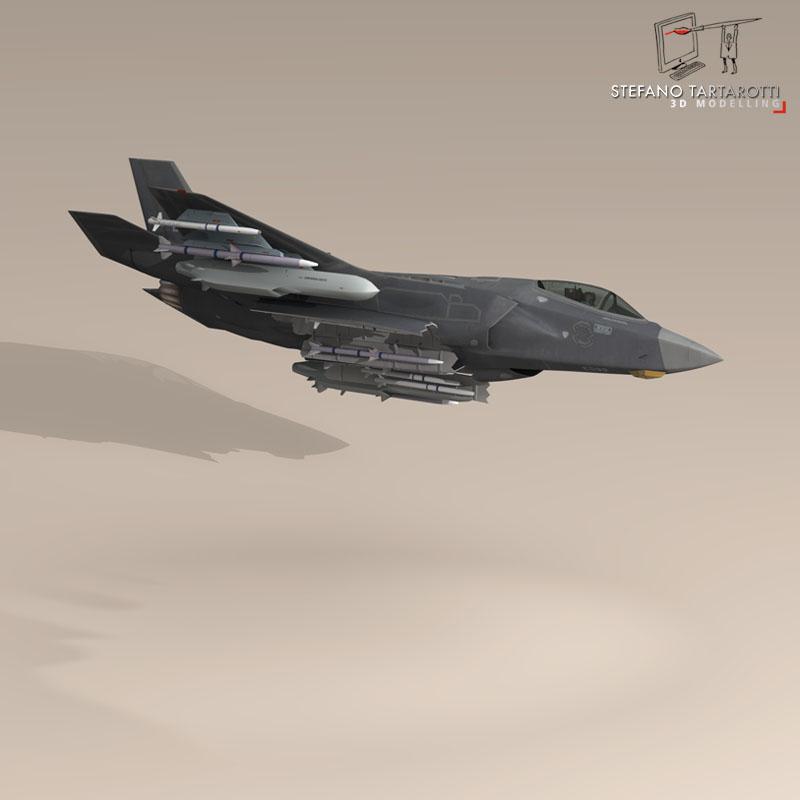 f 35 a royal danish air force 3d model 3ds dxf fbx c4d obj 147344