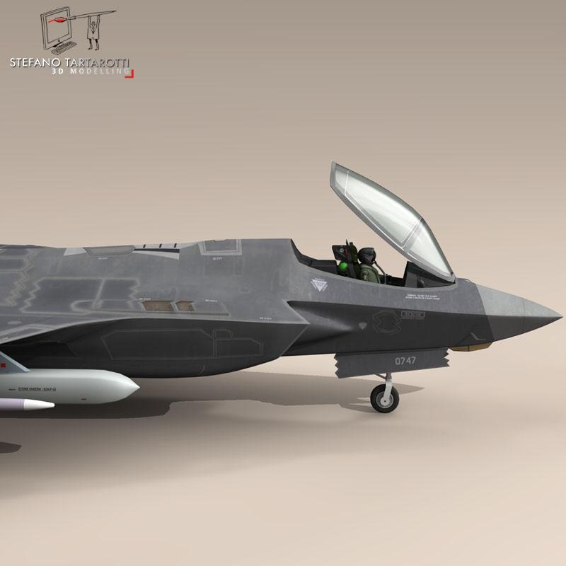 f 35 a royal danish air force 3d model 3ds dxf fbx c4d obj 147345
