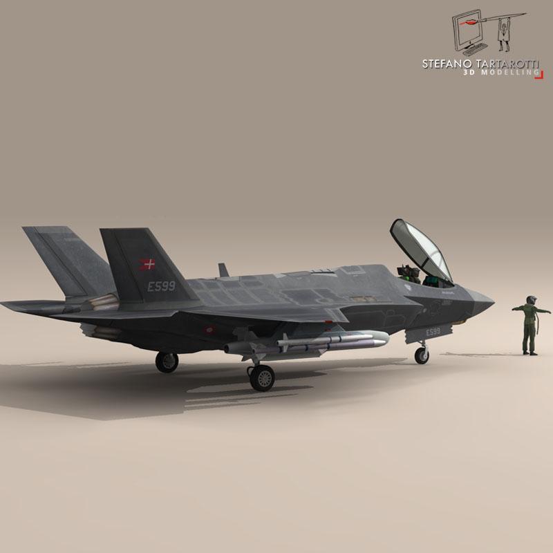f 35 a royal danish air force 3d model 3ds dxf fbx c4d obj 147346