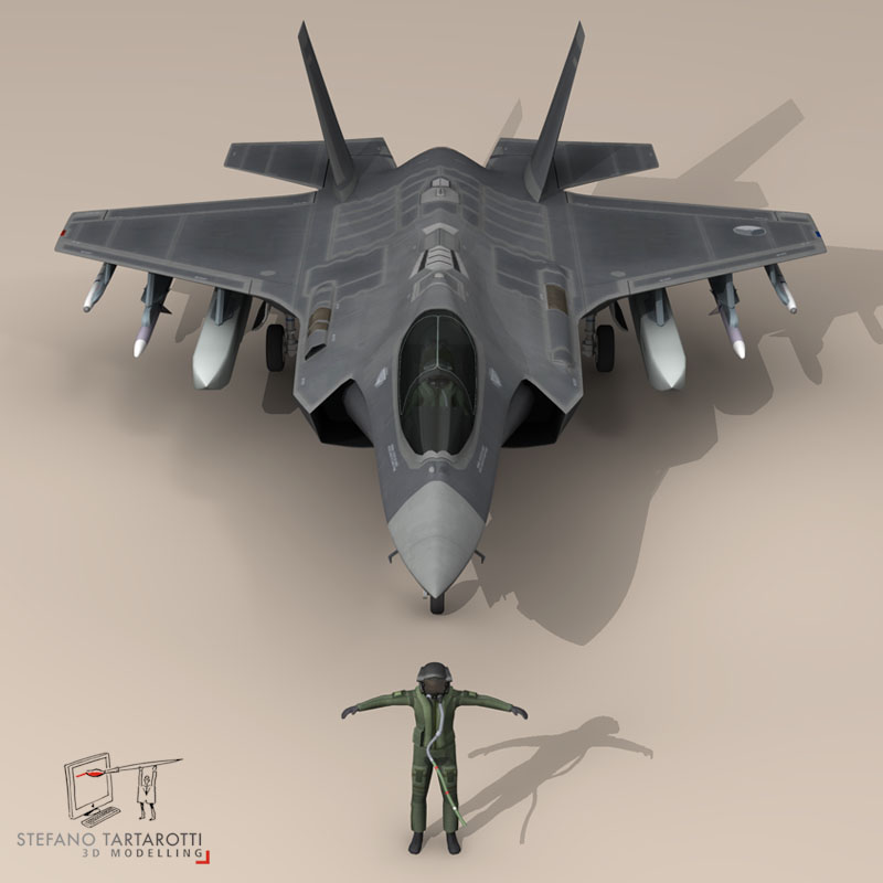 f 35 isang royal netherlands air force 3d modelo 3ds dxf fbx c4d obj 147299