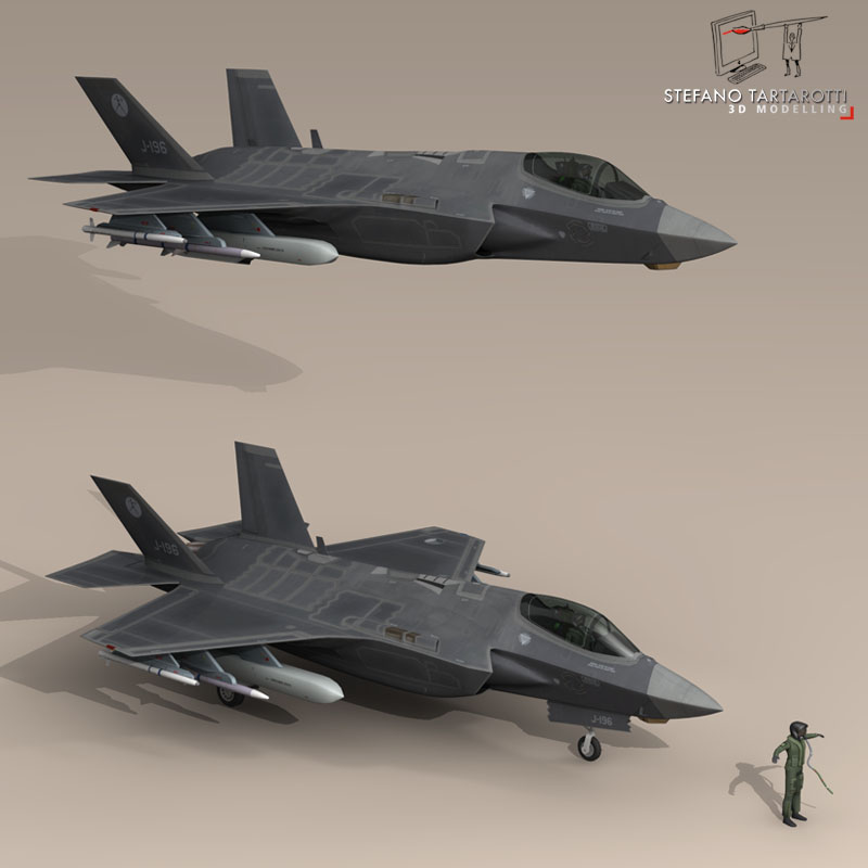 f 35 a royal netherlands air force 3d model 3ds dxf fbx c4d obj 147300