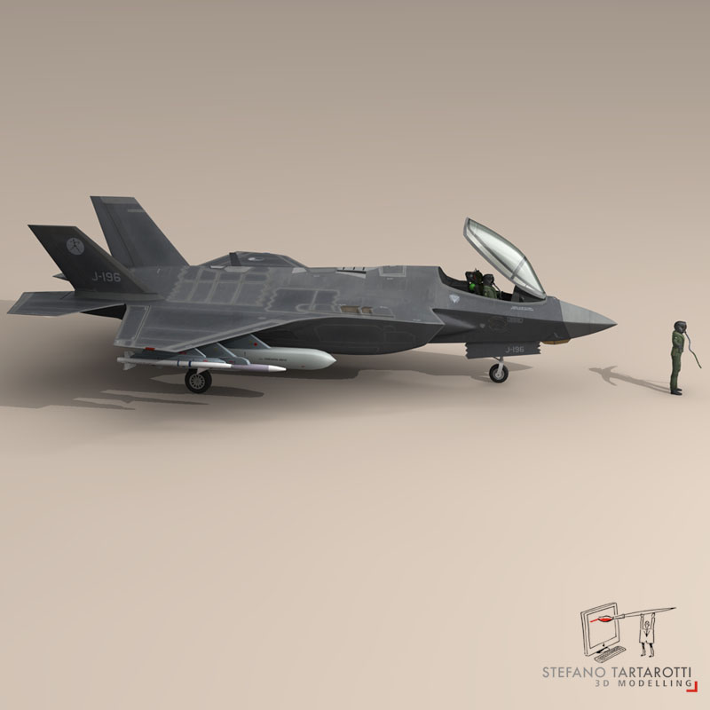 f 35 a royal netherlands air force 3d model 3ds dxf fbx c4d obj 147301