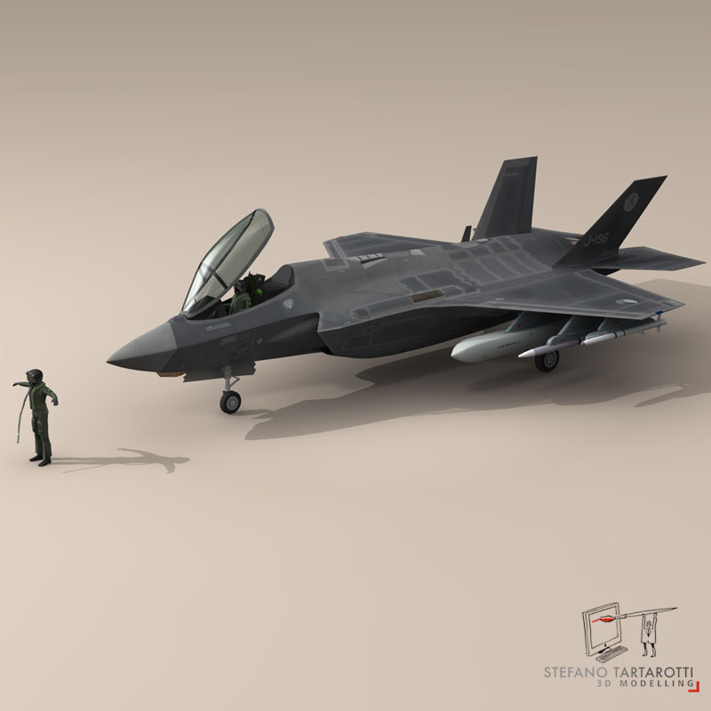 f 35 a royal netherlands air force 3d model 3ds dxf fbx c4d obj 147303