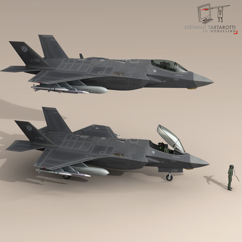 f 35 a royal netherlands air force 3d model 3ds dxf fbx c4d obj 147304