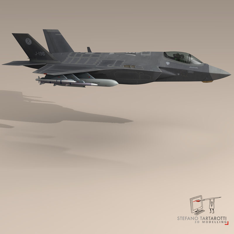 f 35 a royal netherlands air force 3d model 3ds dxf fbx c4d obj 147305