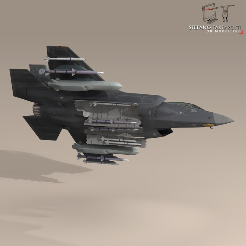 f 35 a royal netherlands air force 3d model 3ds dxf fbx c4d obj 147306