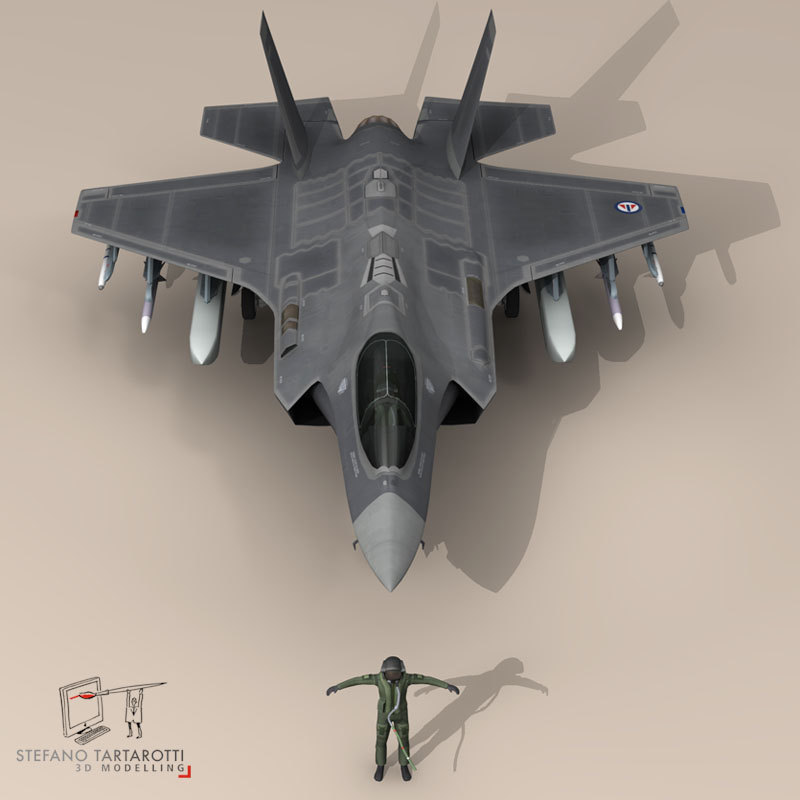 f 35 a royal norwegian air force 3d model 3ds dxf fbx c4d obj 147289