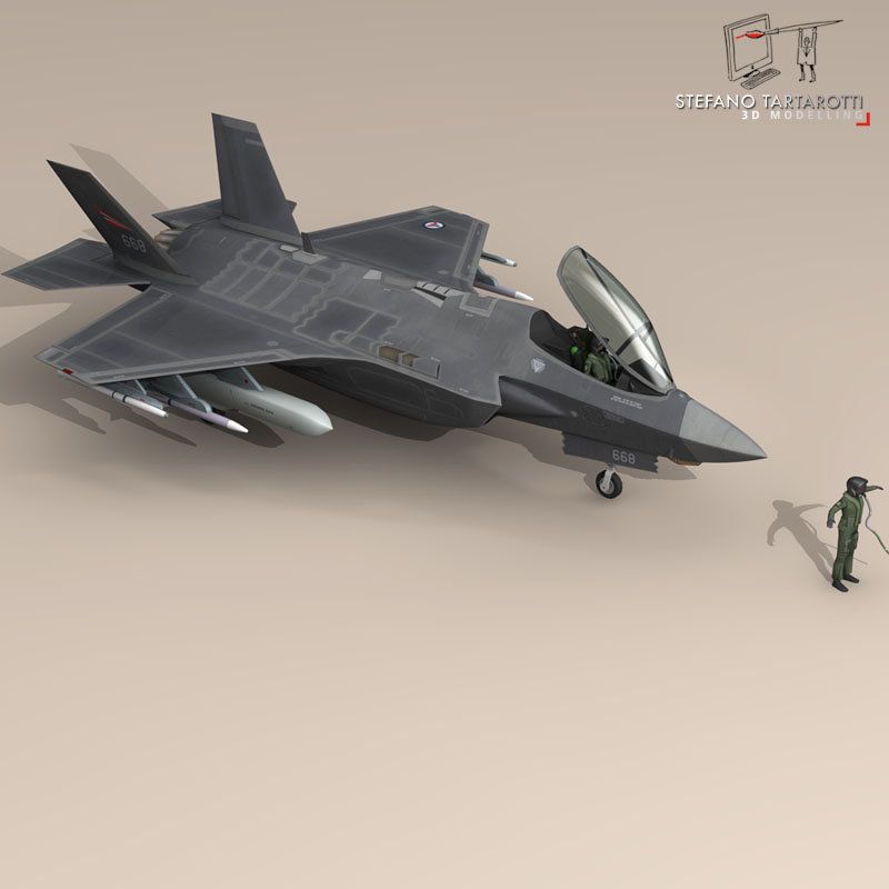 f 35 a royal norwegian air force 3d model 3ds dxf fbx c4d obj 147290