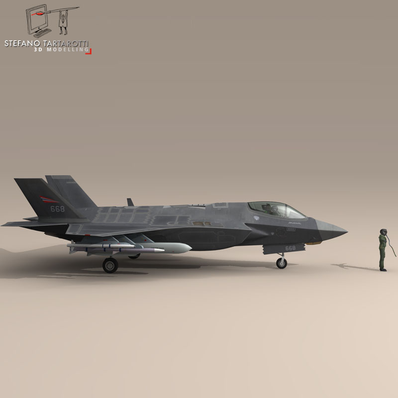 f 35 a royal norwegian air force 3d model 3ds dxf fbx c4d obj 147291