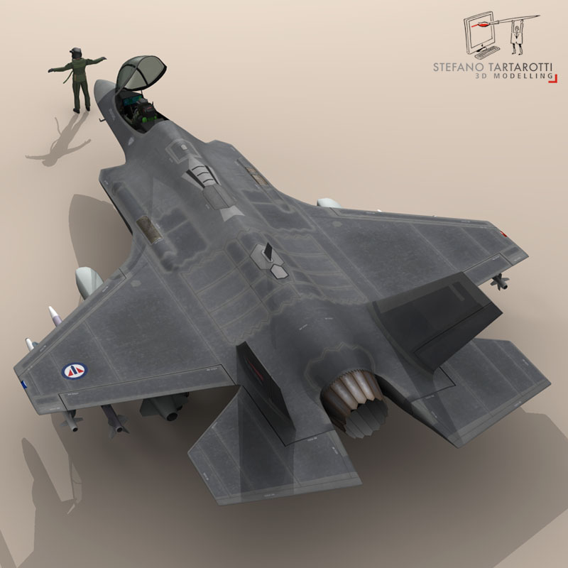 f 35 a royal norwegian air force 3d model 3ds dxf fbx c4d obj 147292