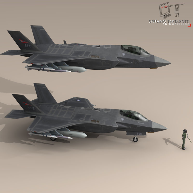f 35 a royal norwegian air force 3d model 3ds dxf fbx c4d obj 147293