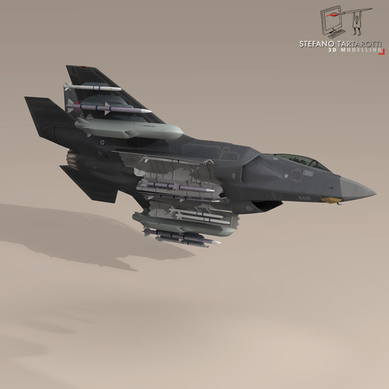 f 35 a royal norwegian air force 3d model 3ds dxf fbx c4d obj 147295