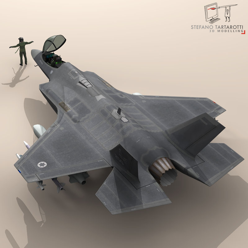 f 35a israeli air force 3d modelo 3ds dxf fbx c4d obj 147325