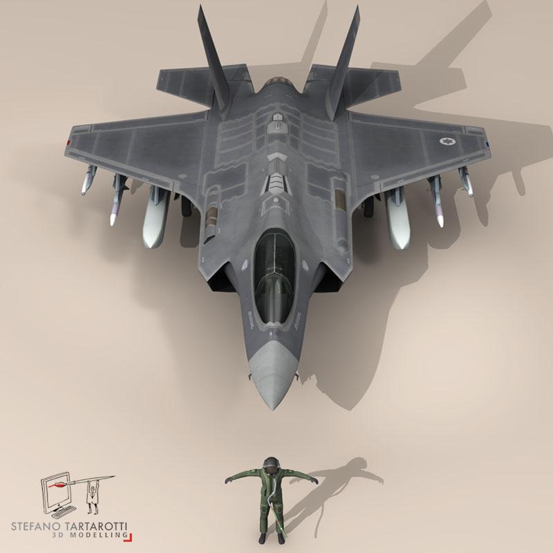 f 35a israeli air force 3d model 3ds dxf fbx c4d obj 147326