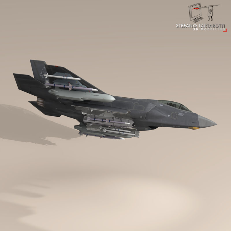 f 35a israeli air force 3d model 3ds dxf fbx c4d obj 147328