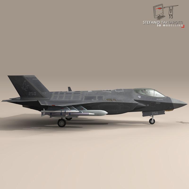f 35a israeli air force 3d model 3ds dxf fbx c4d obj 147330