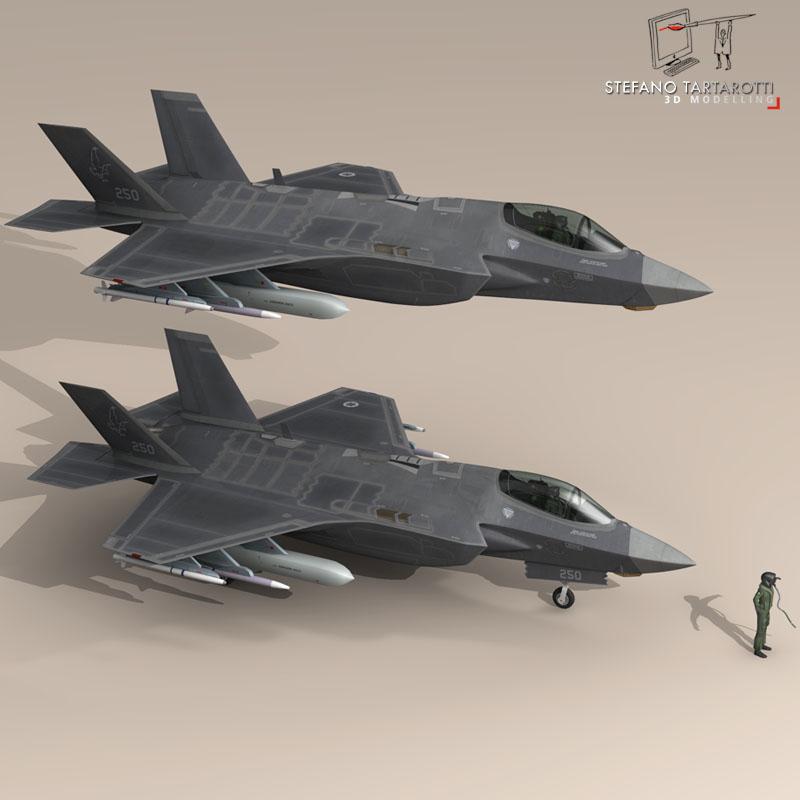 f 35a israeli air force 3d model 3ds dxf fbx c4d obj 147331
