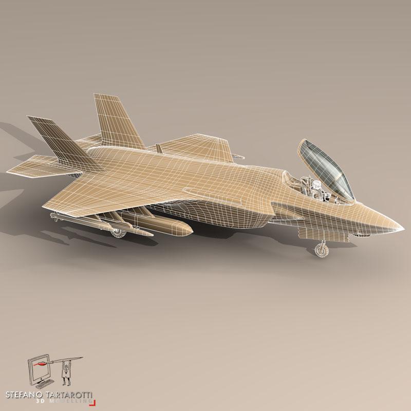 f 35a israeli air force 3d model 3ds dxf fbx c4d obj 147337
