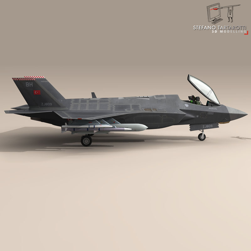 f 35a turkey air force 3d model 3ds dxf fbx c4d obj 147281