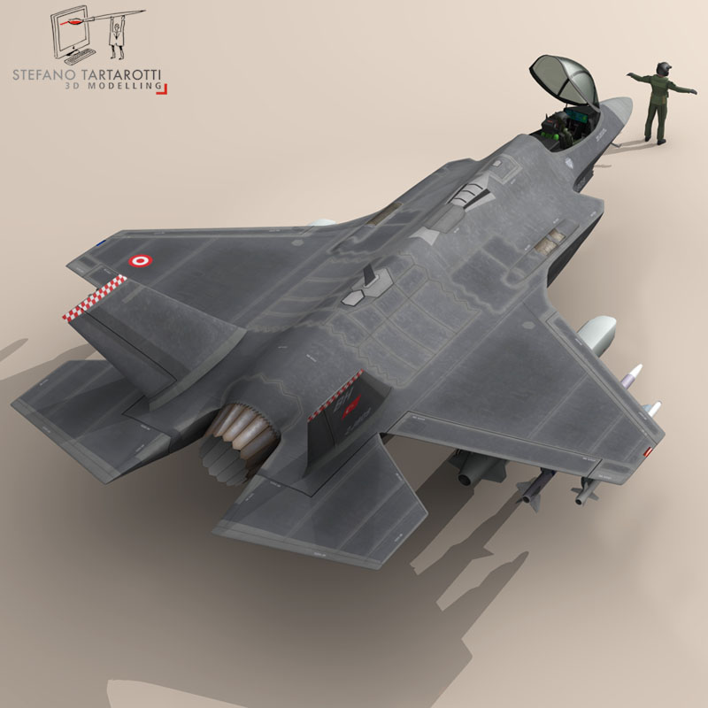 f 35a turkey air force 3d model 3ds dxf fbx c4d obj 147282
