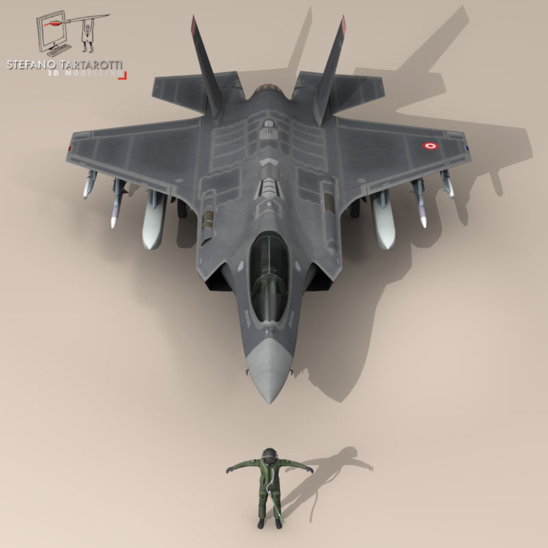 f 35a turkey air force 3d model 3ds dxf fbx c4d obj 147283
