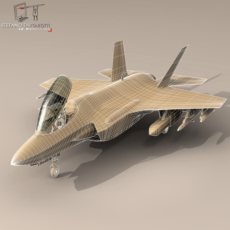 f 35a turkey air force 3d model 3ds dxf fbx c4d obj 147288