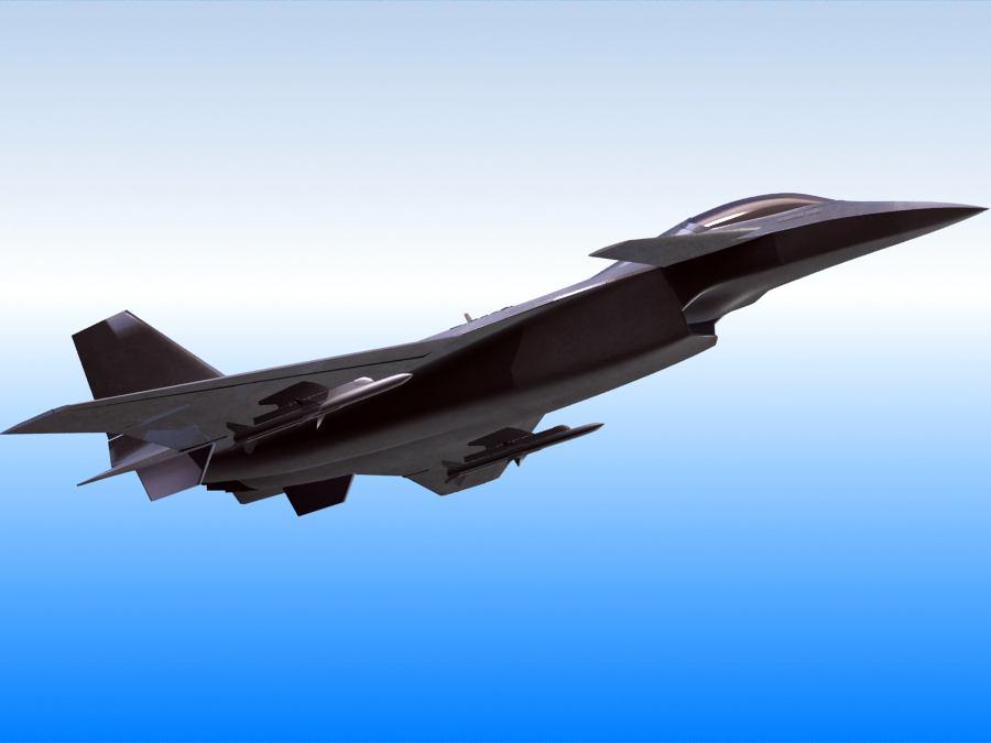 j-14 хятад сөнөөгч 3d загвар 3ds max fbx obj 123566