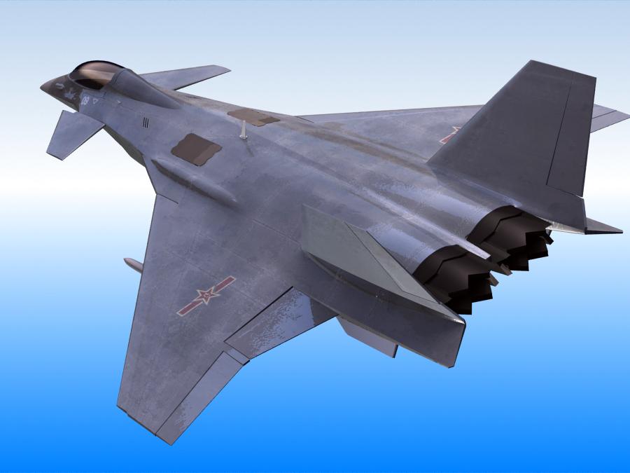 j-14 хятад сөнөөгч 3d загвар 3ds max fbx obj 123567