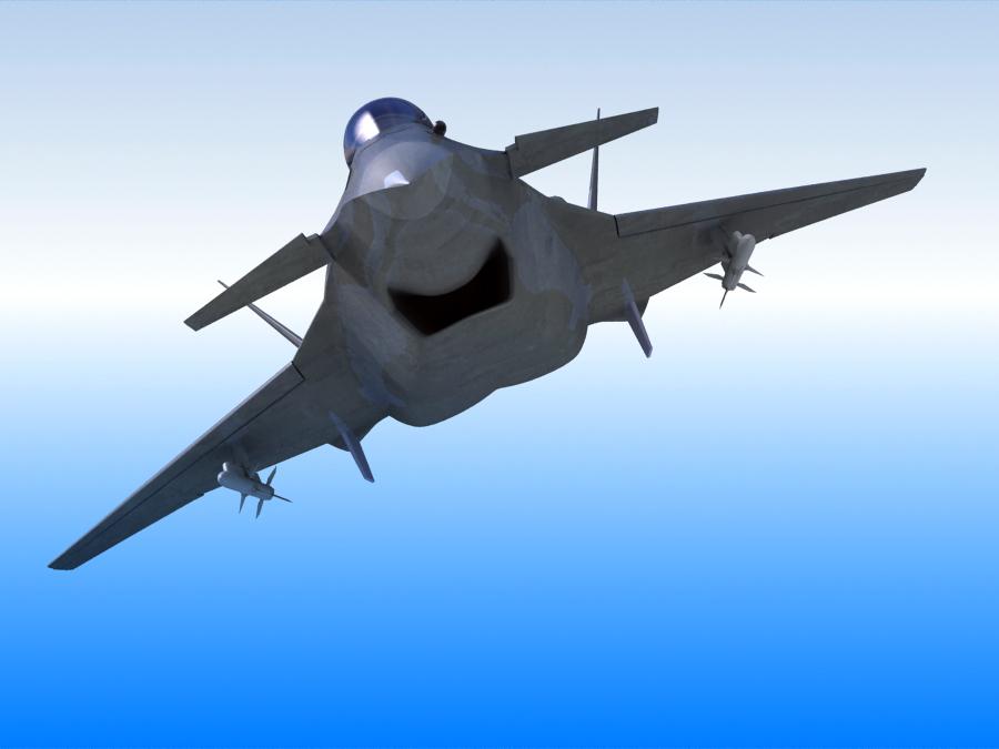j-14 хятад сөнөөгч 3d загвар 3ds max fbx obj 123568