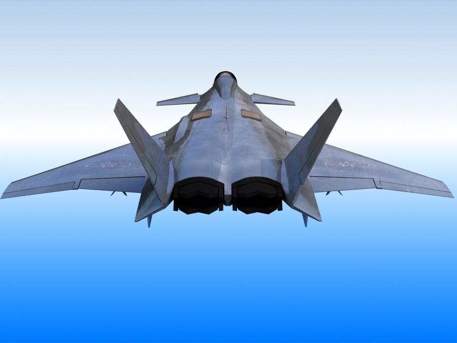 j-14 хятад сөнөөгч 3d загвар 3ds max fbx obj 123570