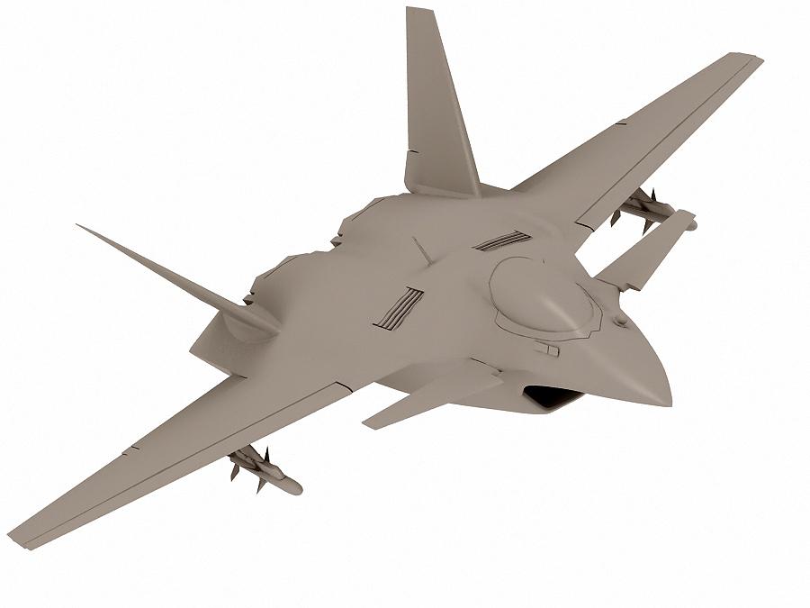 j-14 хятад сөнөөгч 3d загвар 3ds max fbx obj 123574